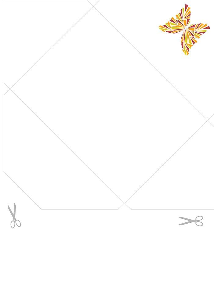 Envelope para imprimir borboleta