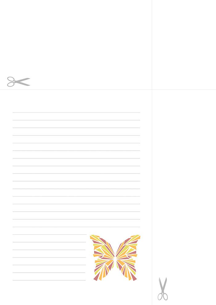 Papel de carta Borboleta