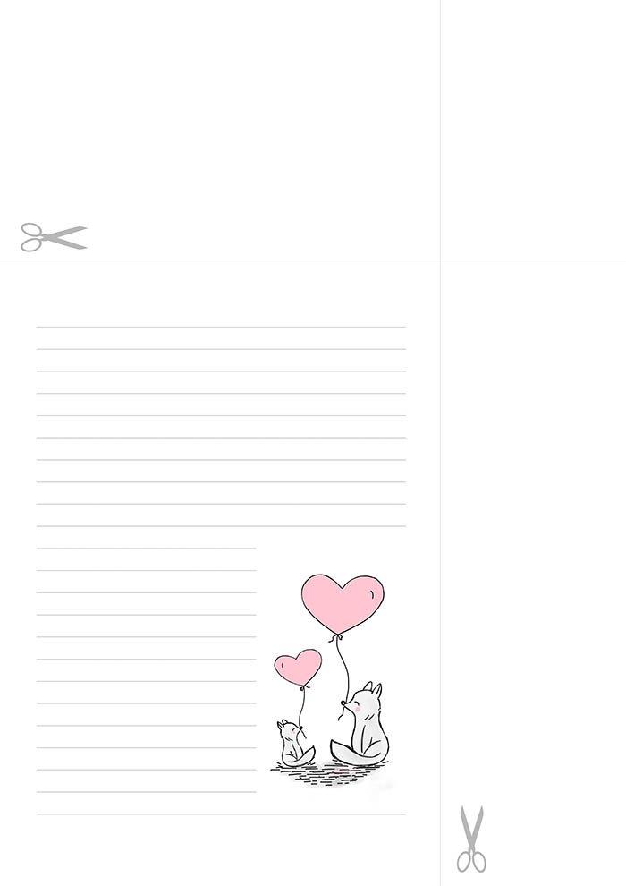 Dia dos namorados 2- Papel de carta