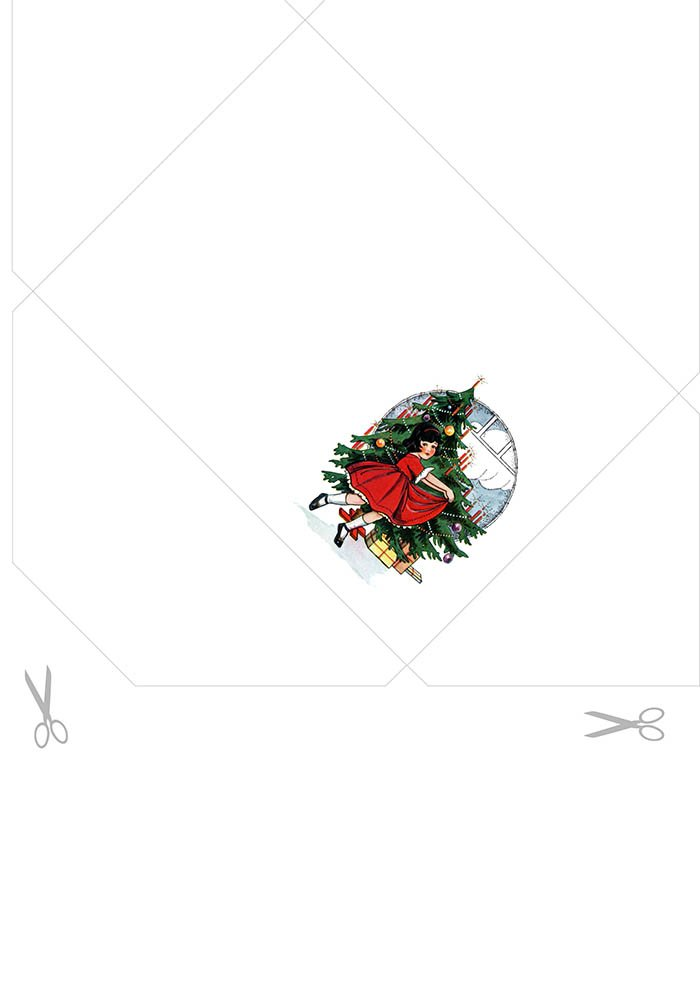 Envelope para Imprimir - Menina Natal
