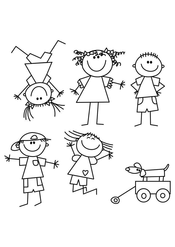 criancas para colorir