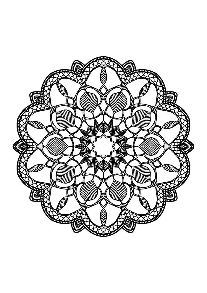 mandala mágica para colorir