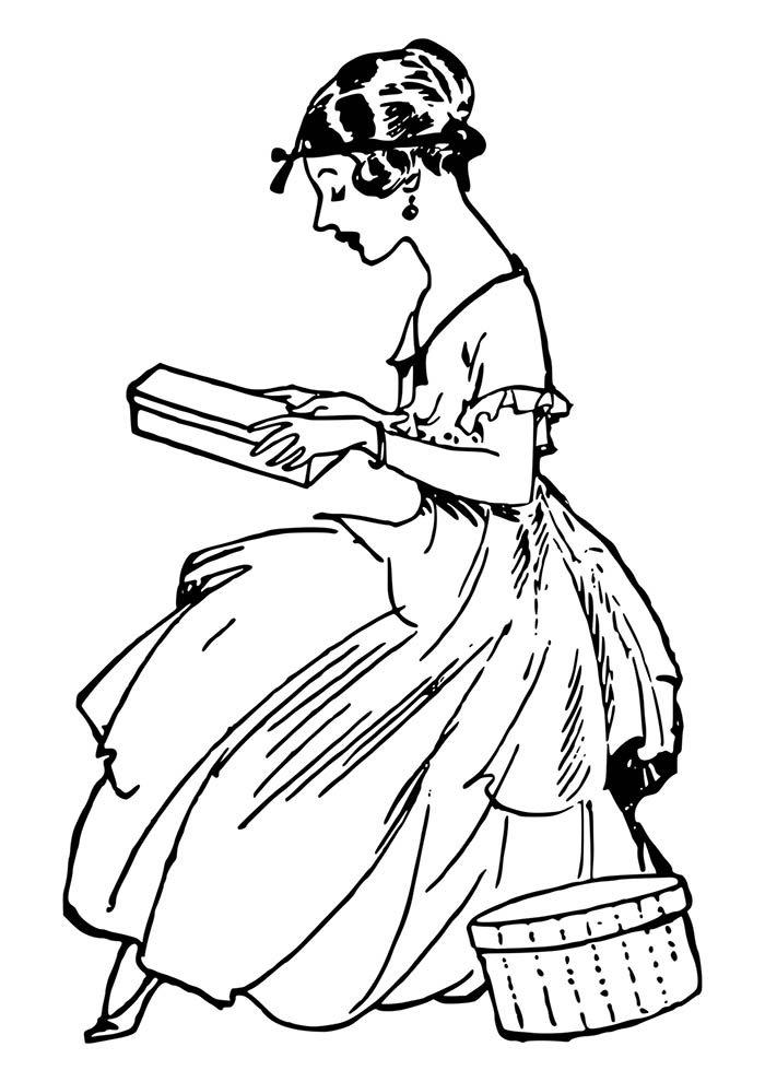 desenho de menina para pintar