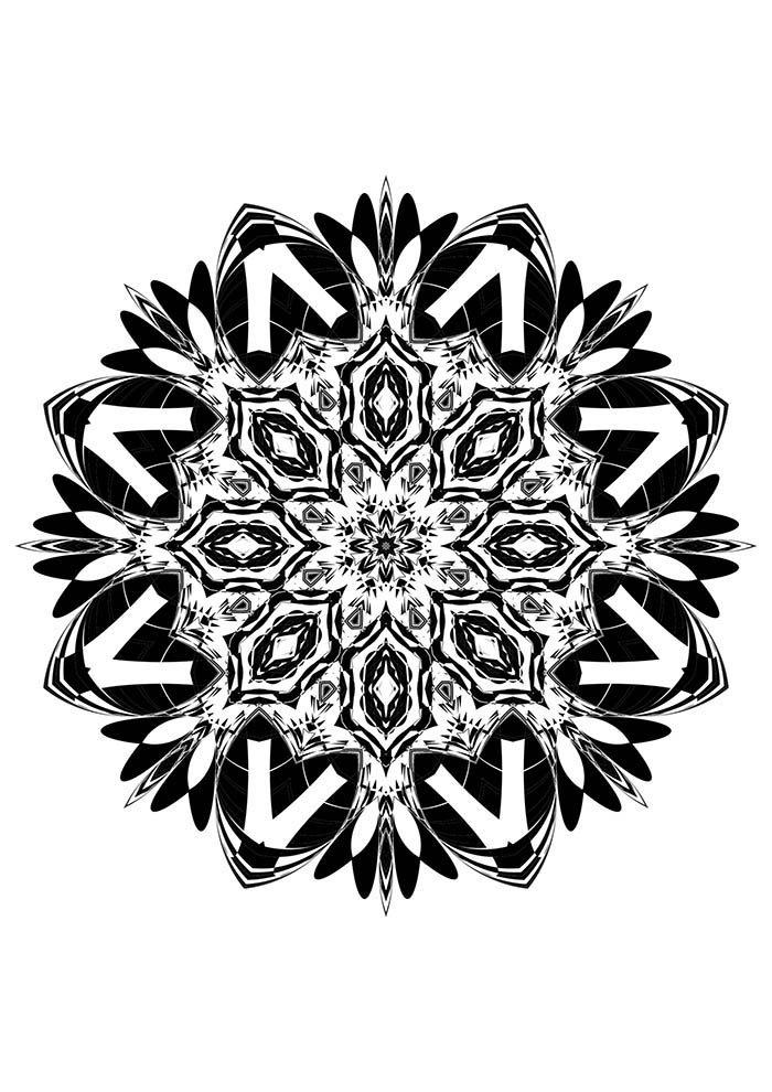 Mandala floral para colorir