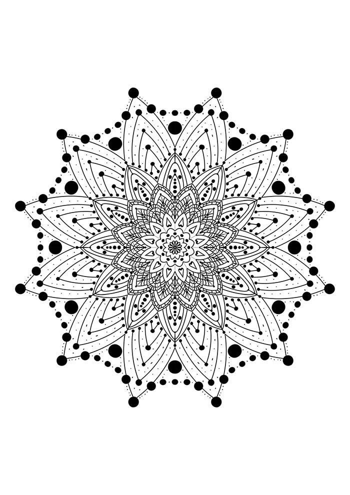 Mandala de papel para colorir