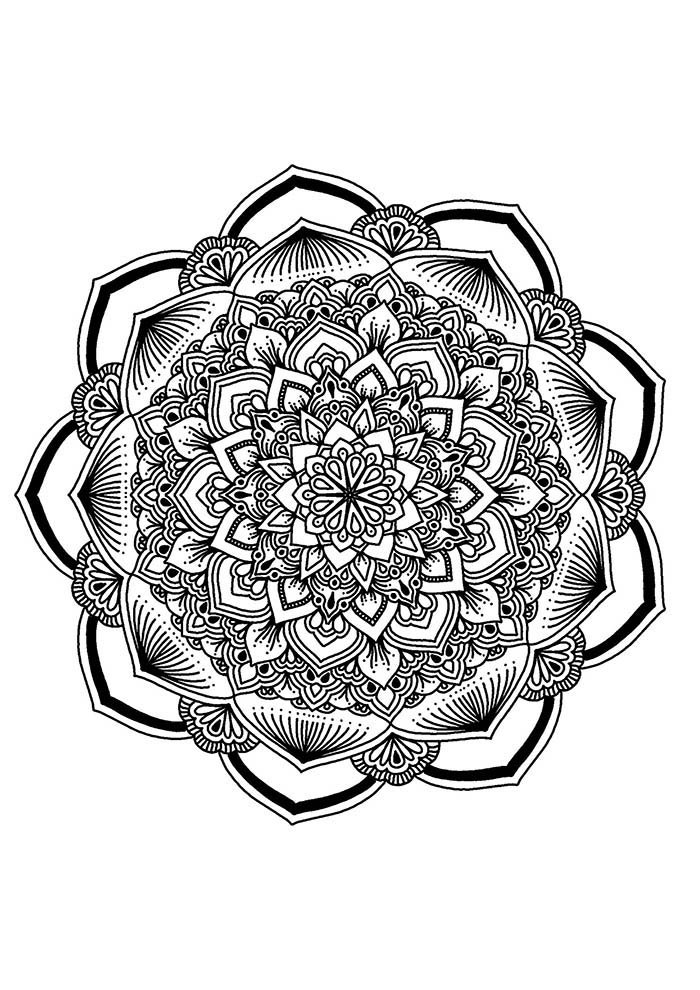 Mandala da fortuna para colorir