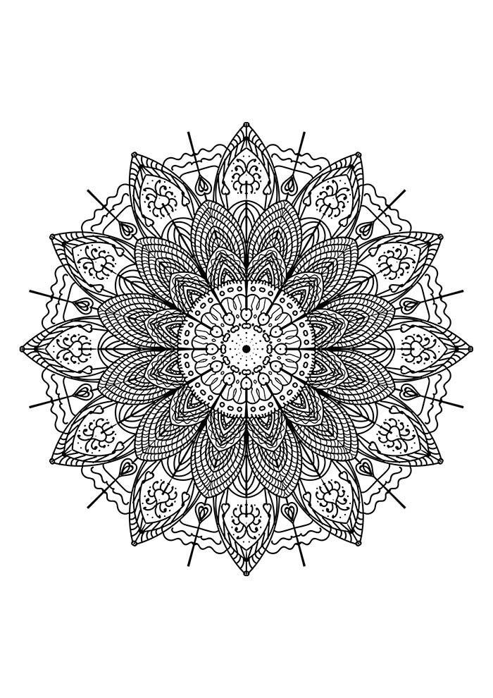 Mandala de festa junina para colorir