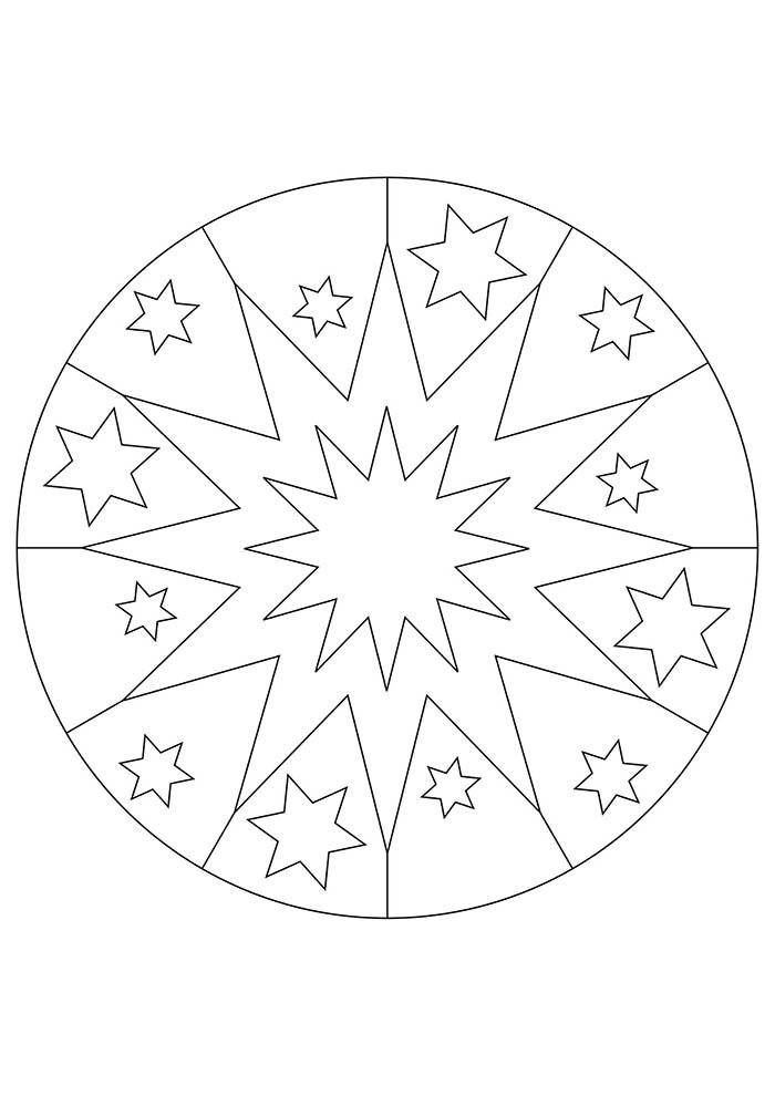 Mandala de proteção para colorir