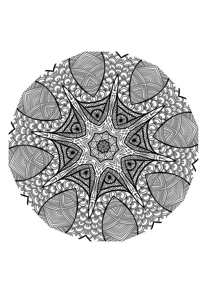 Mandala simples para colorir