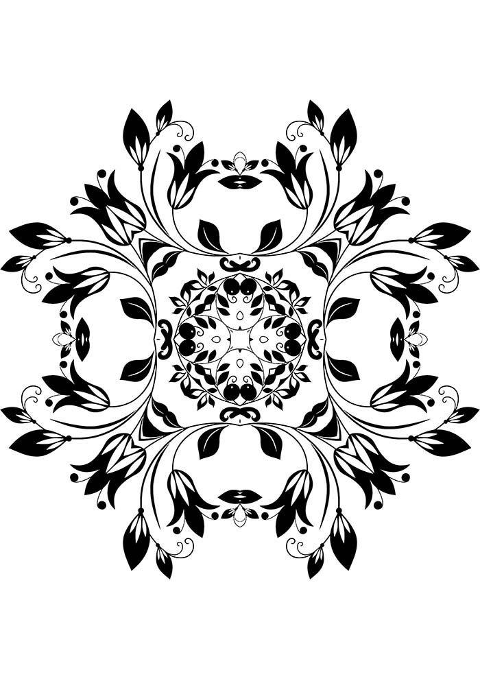 Mandala terapêutica para colorir
