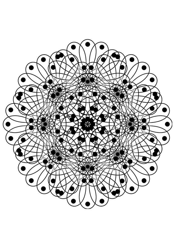 Mandala de natal para colorir