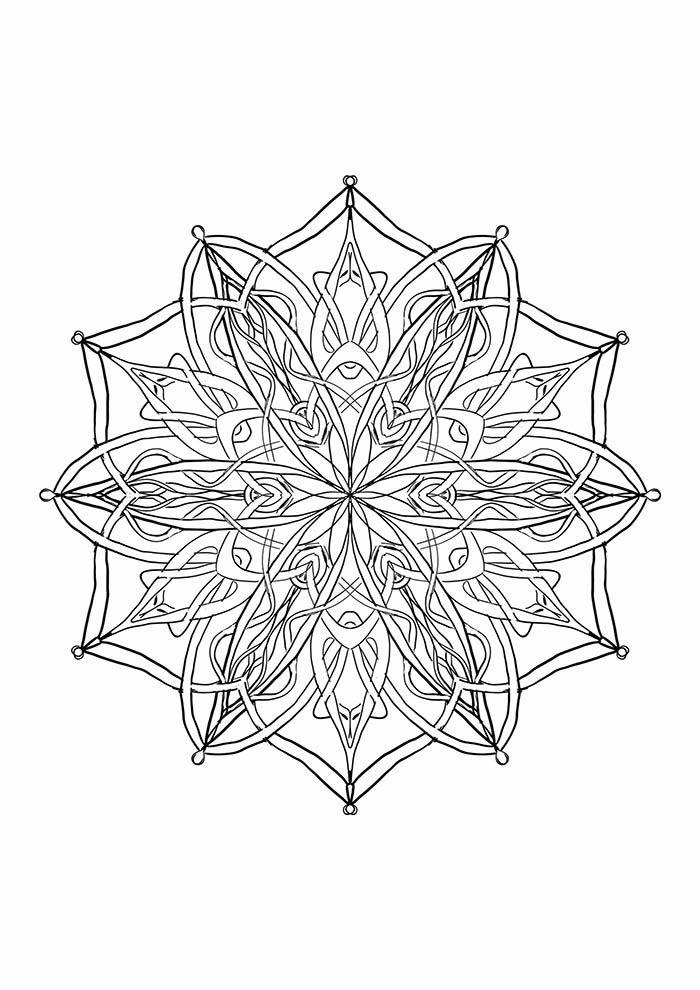 Mandala artesanal para colorir
