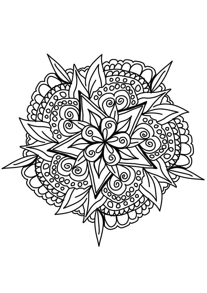 Mandala astrologica para colorir