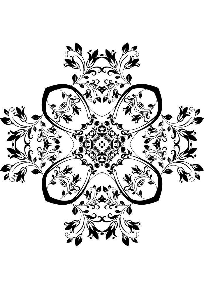 Mandala borboleta para colorir