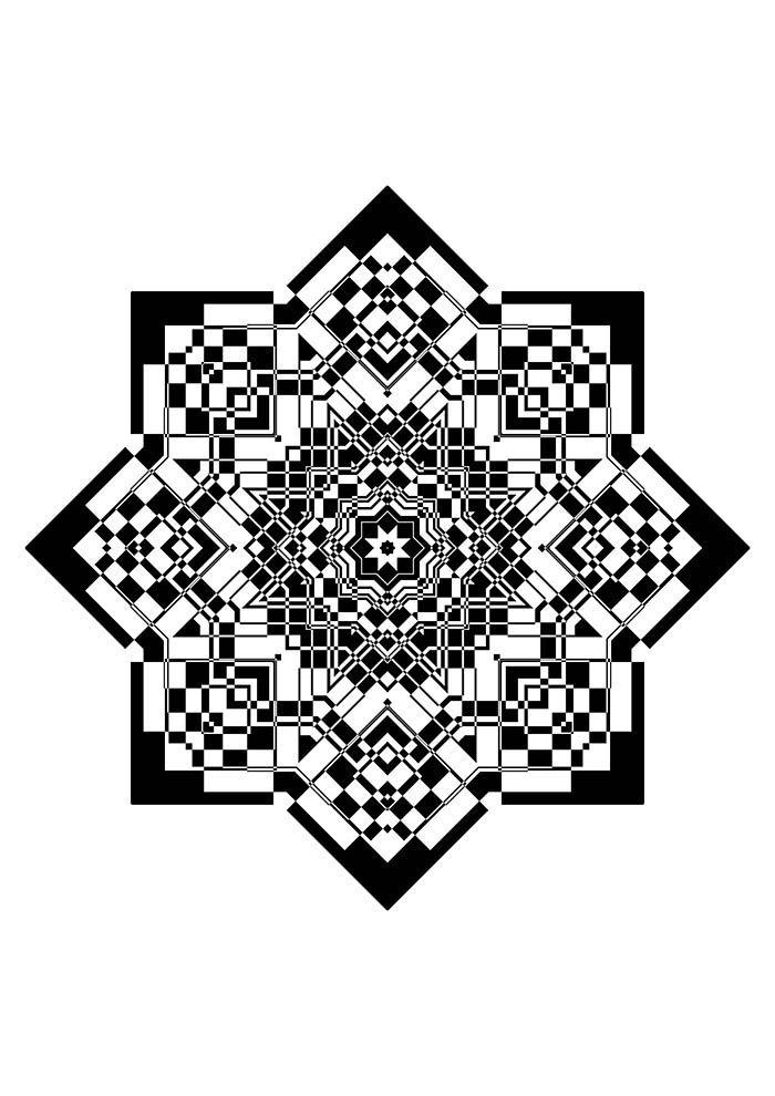 Mandala da prosperidade para colorir