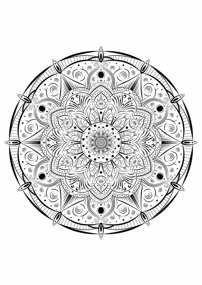Mandala flores para colorir