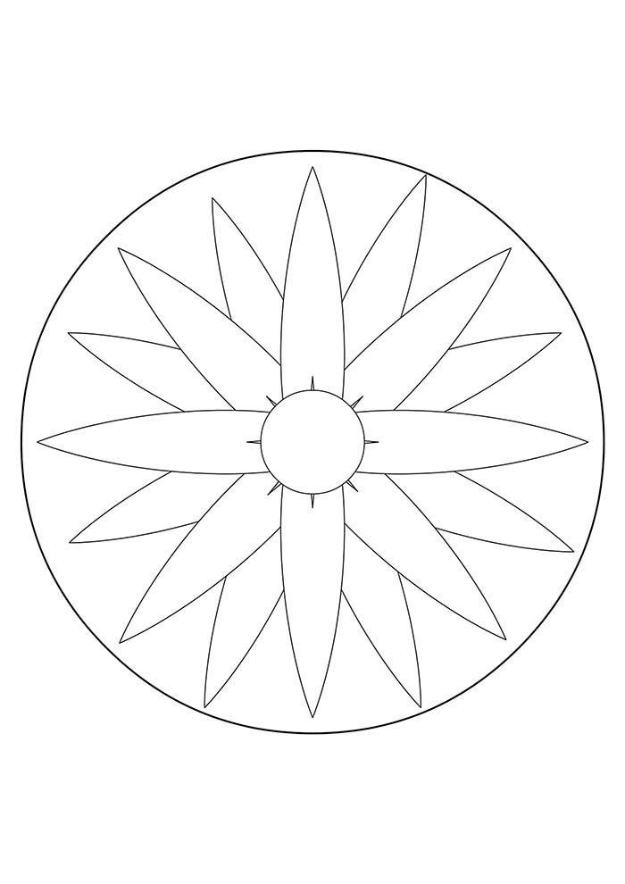 Mandala para colorir jardim secreto