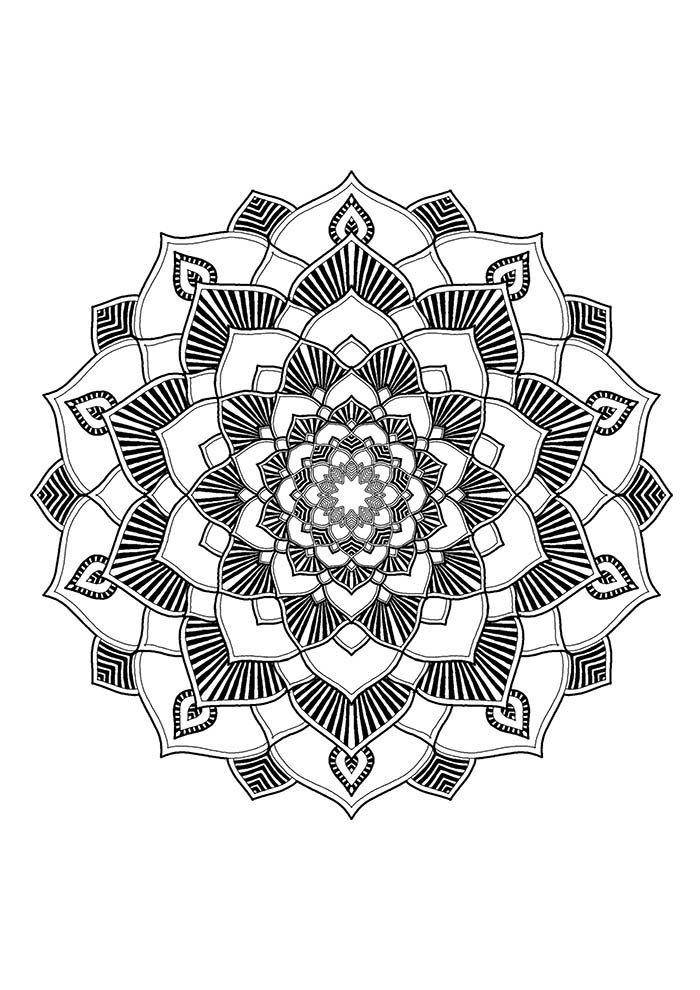 Mandala espelho para colorir