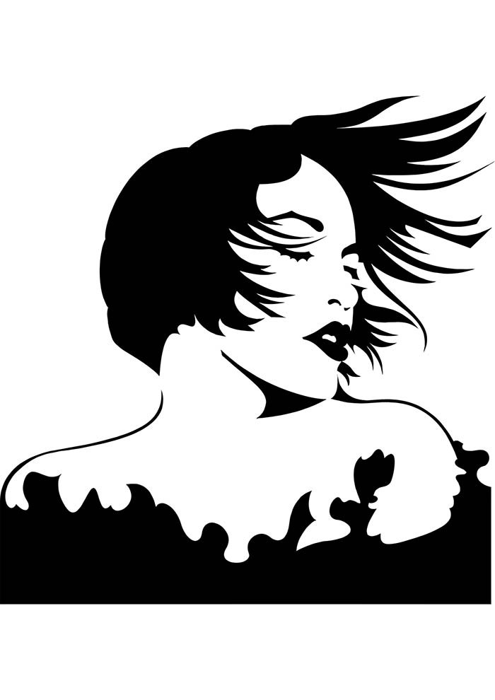 mulher para colorir