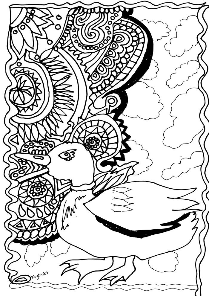 pato para colorir