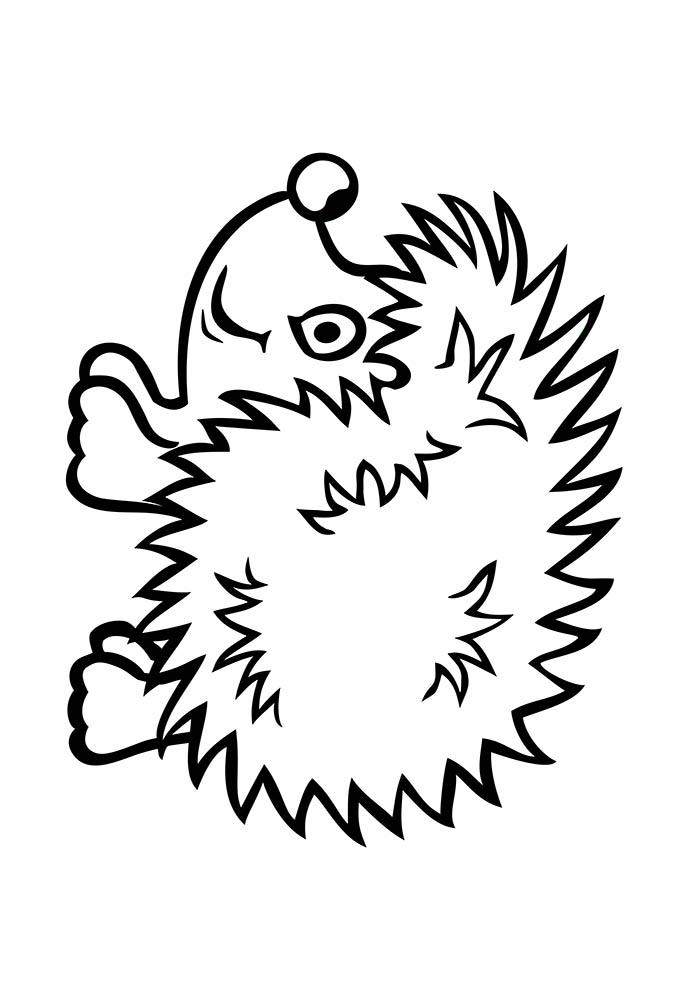 porco espinho para colorir