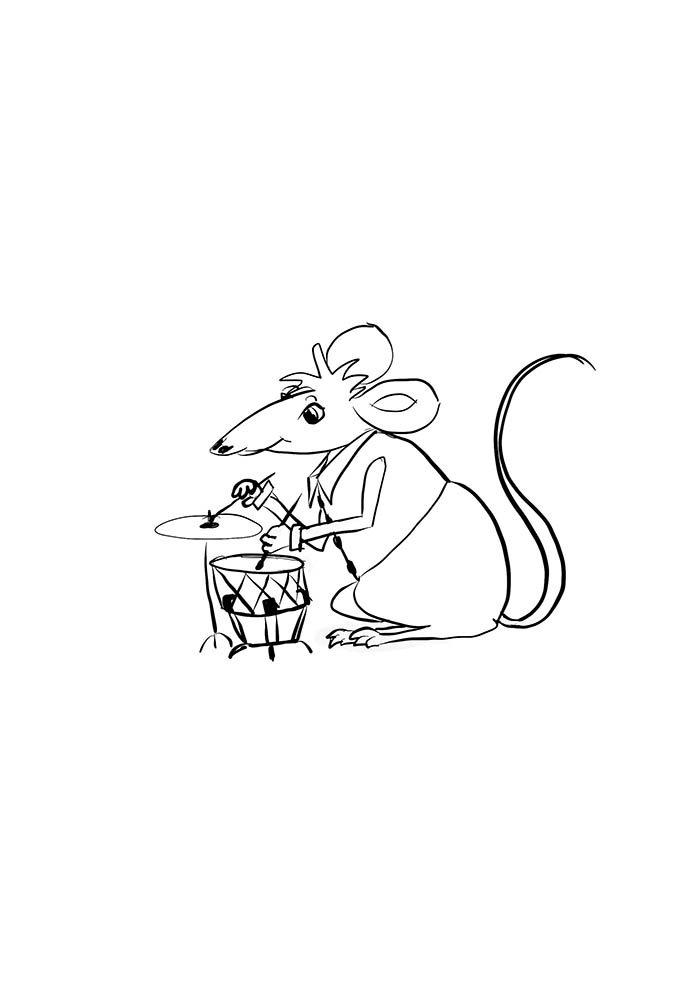 rato baterista
