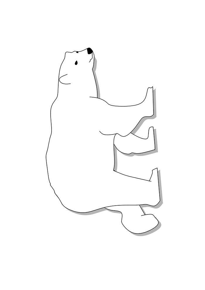 urso para colorir