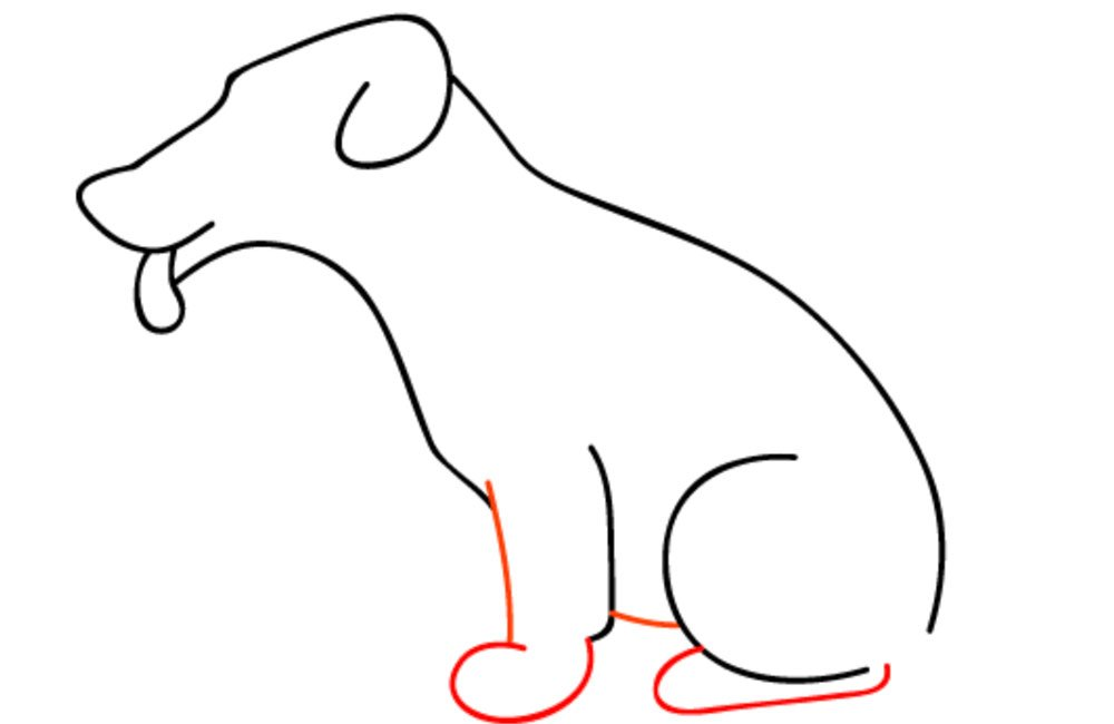 como desenhar um cachorro passo 6