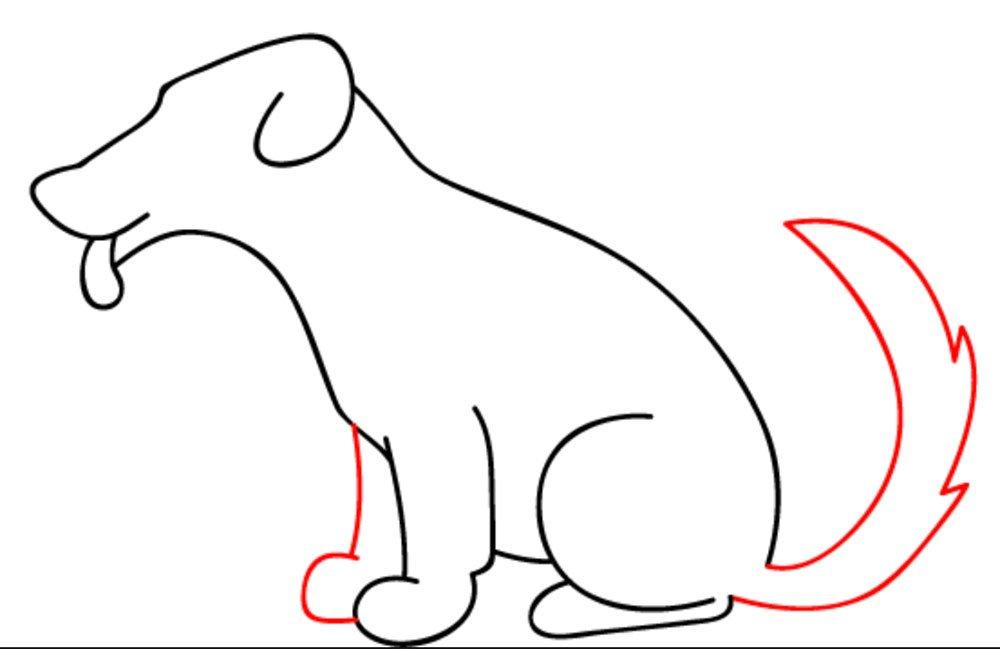 como desenhar um cachorro passo 7