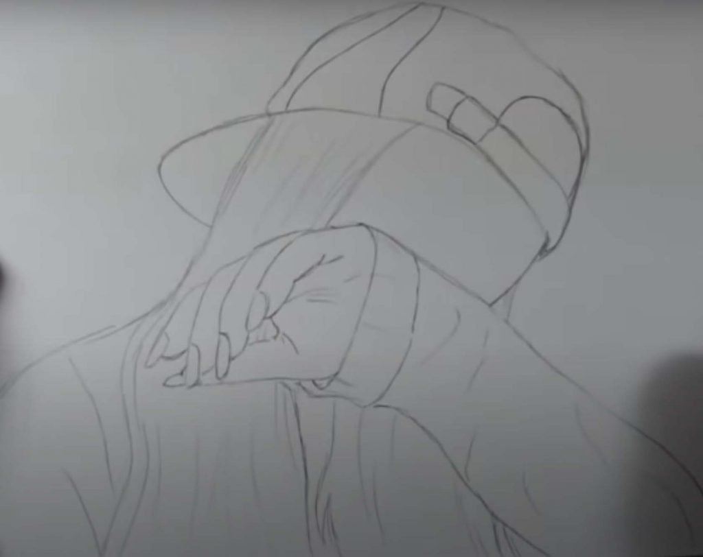 como desenhar menina tumblr passo 12