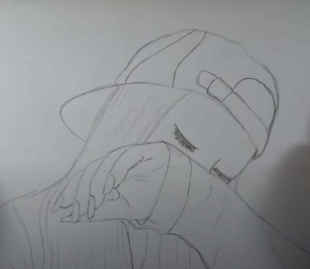como desenhar menina tumblr passo 13
