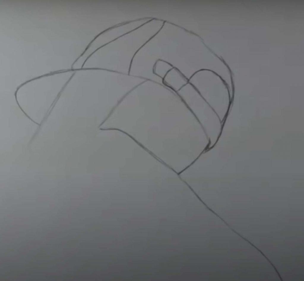 como desenhar menina tumblr passo 7