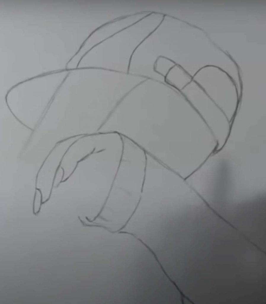 como desenhar menina tumblr passo 9