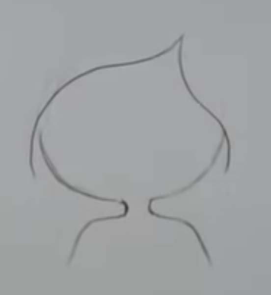 como desenhar uma sereia passo 2