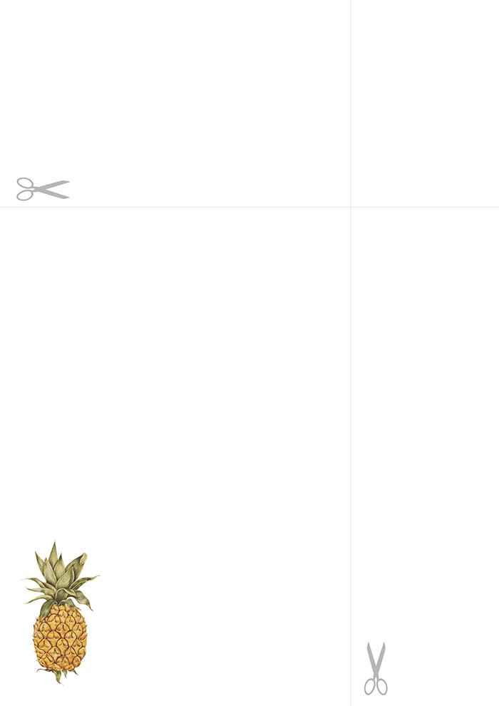papel de carta abacaxi