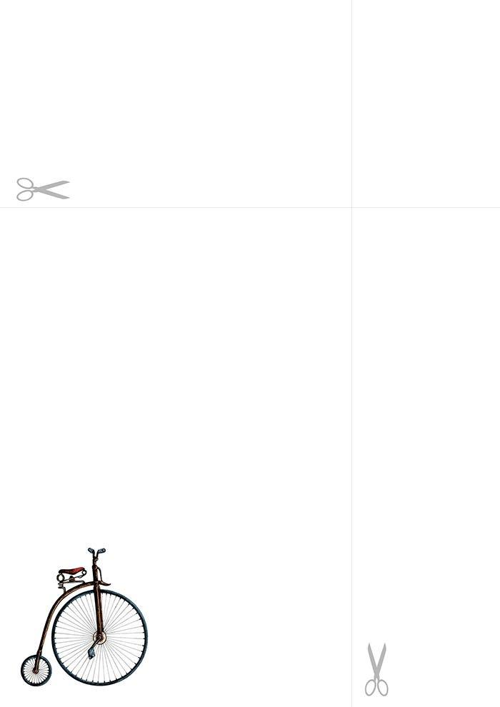 papel de carta bicicleta