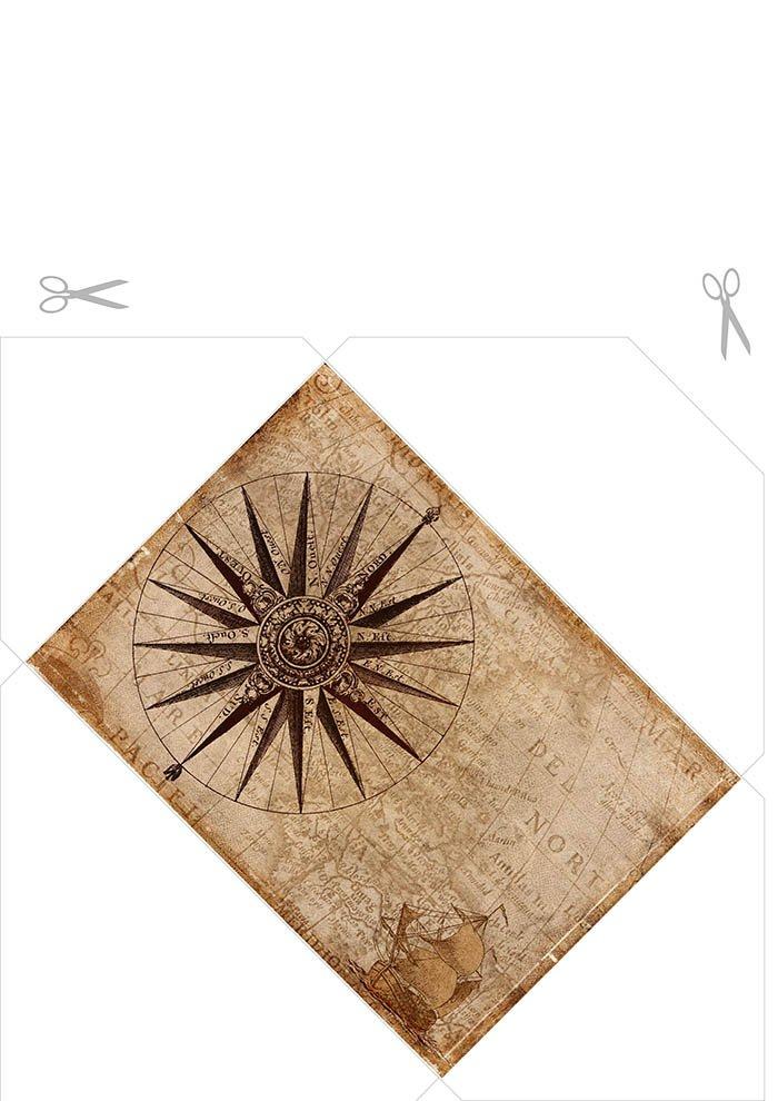 envelope bússola