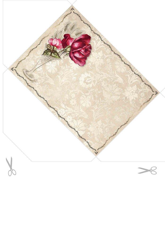 envelope flores vintage