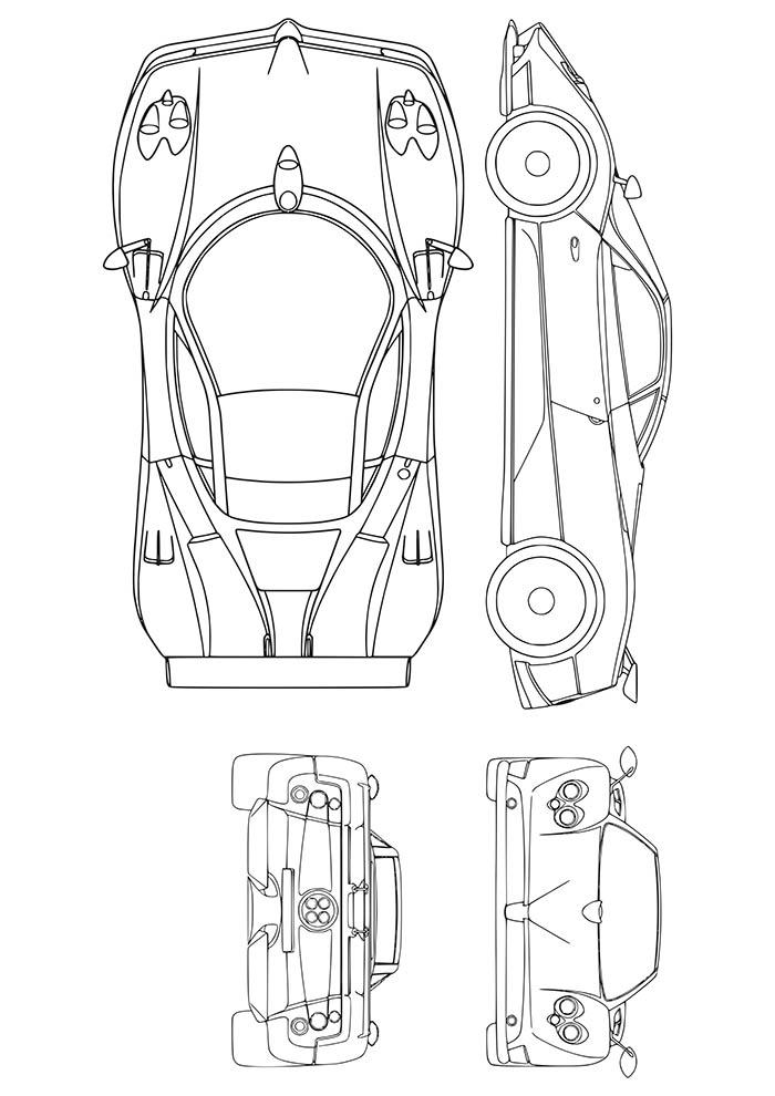 carro Ferrari para colorir