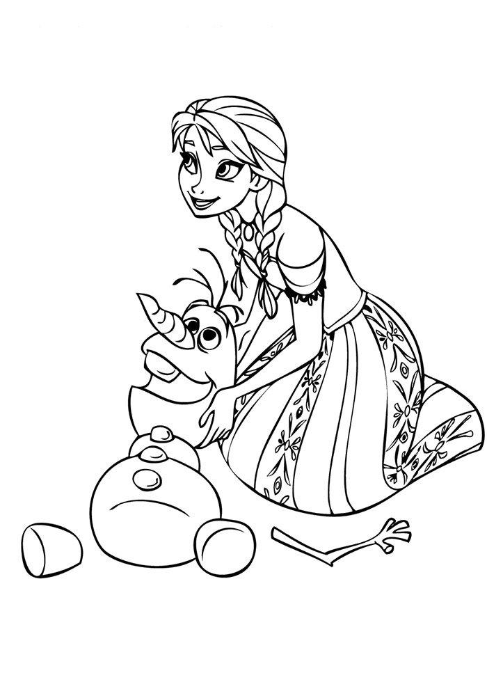 12 Desenhos da Frozen para Colorir