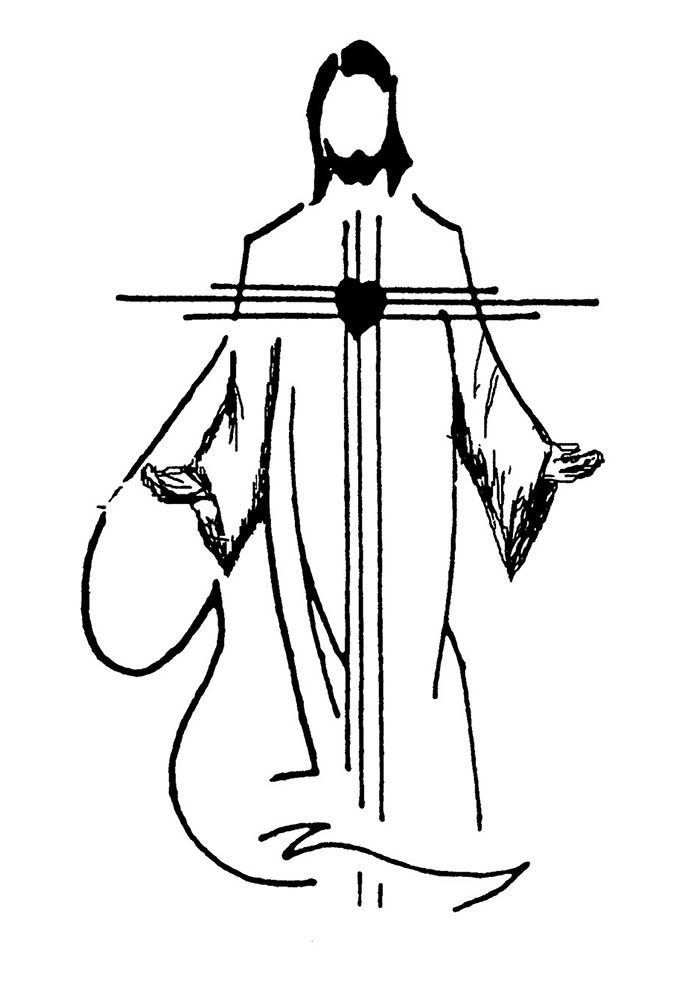 imagem de Jesus para colorir