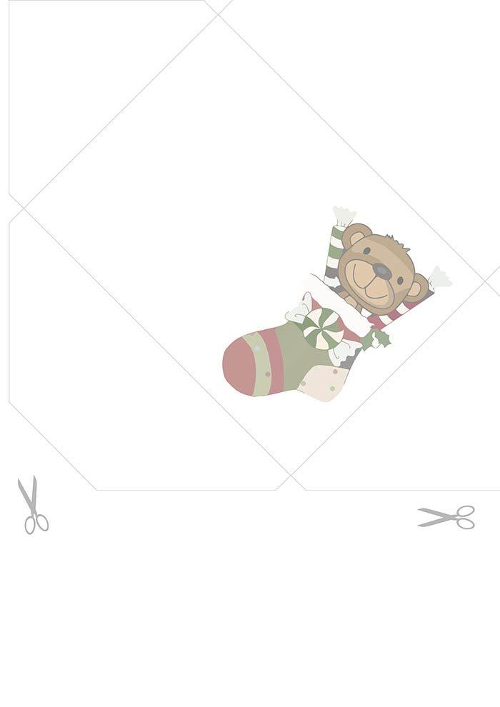envelope urso de natal