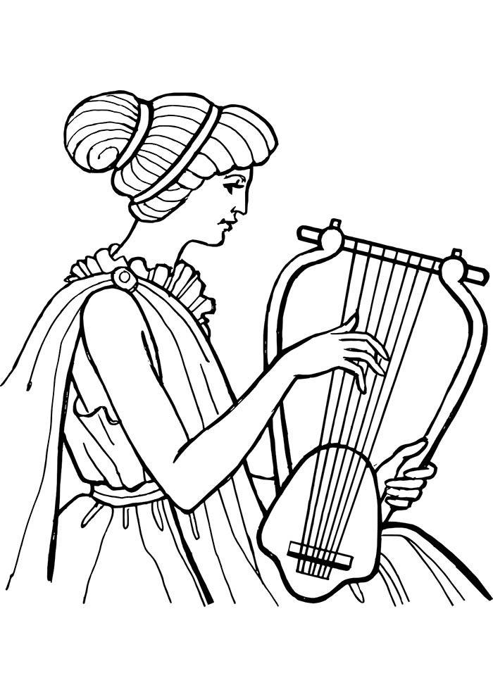 Violinista para colorir