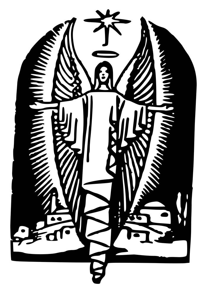 anjo natalino para imprimir e colorir