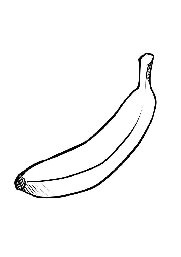 banana para imprimir e colorir