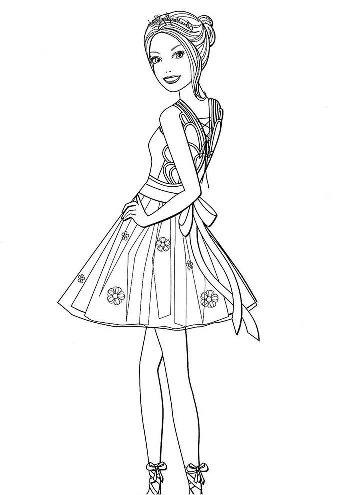 barbie bailarina para colorir