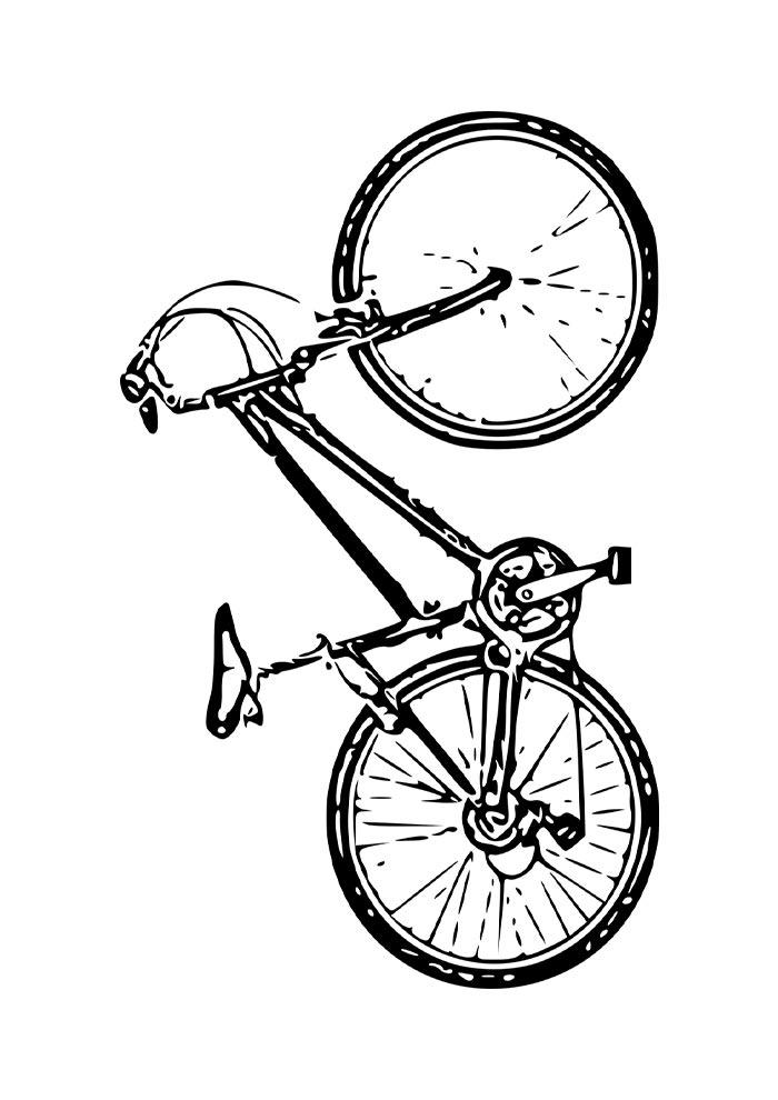 bicicleta grande para colorir