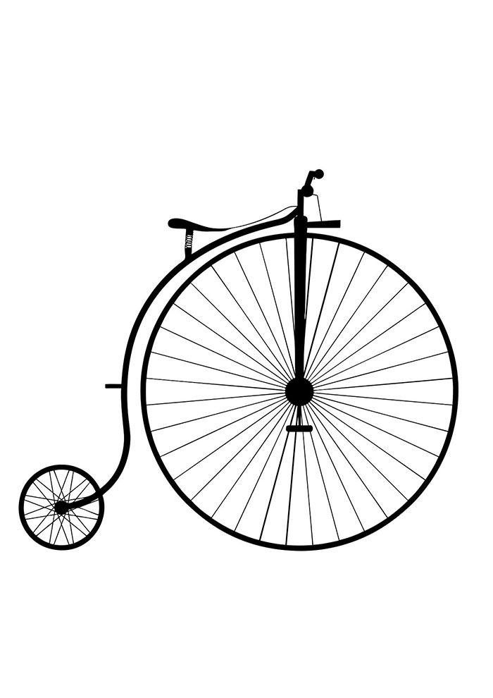 bicicleta para colorir penny