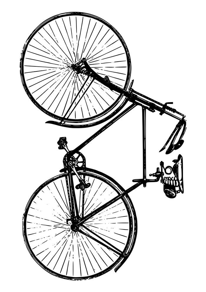 bicicleta para imprimir e colorir