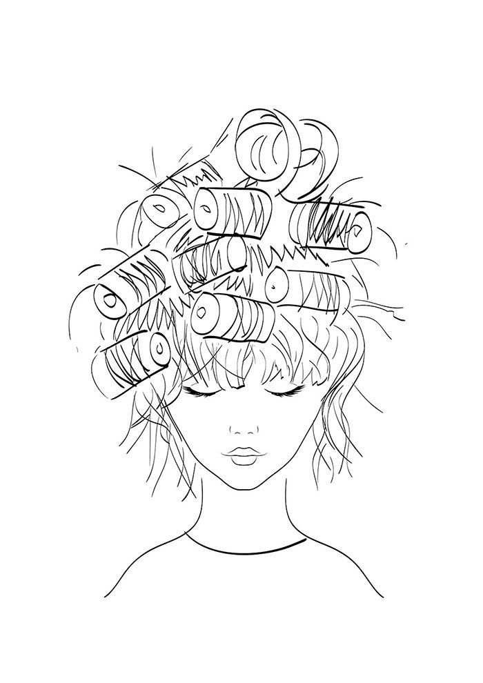 bobs no cabelo